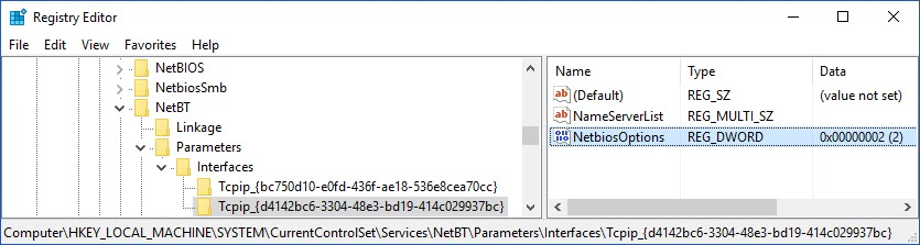Disable NetBIOS with PowerShell – dbsnet